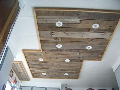Inexpensive Kitchen Light Upgrade Using Pallet Wood