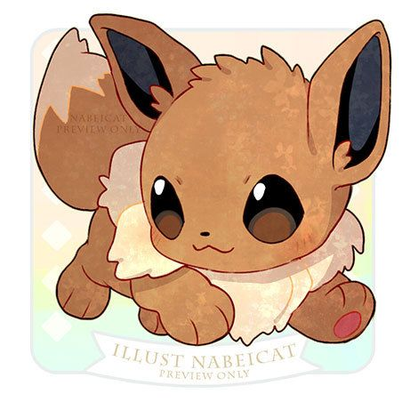 Chibi Eevee Pokemon Evoli Dessin Pokemon Pokemon Kawaii