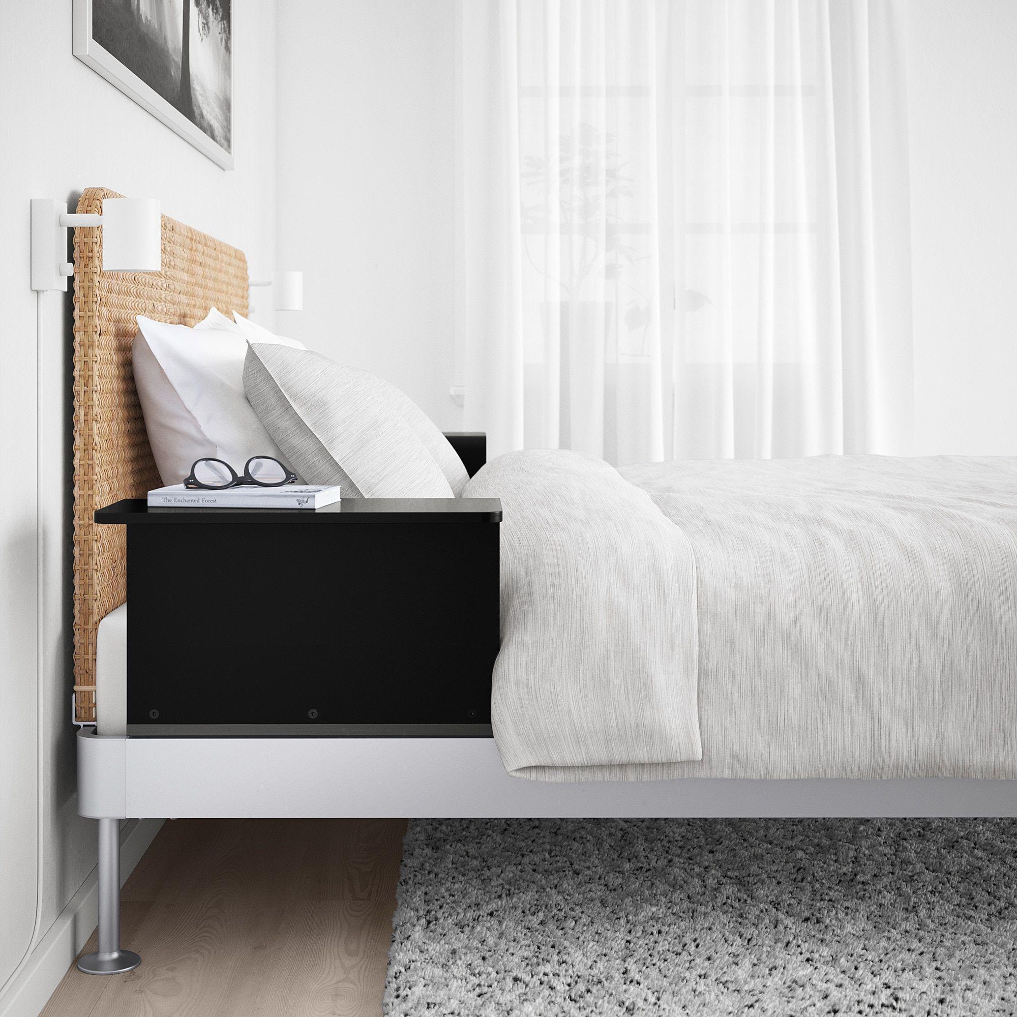 separation shoes 63a5b 3d93b IKEA DELAKTIG Aluminum, Rattan Bed frame/headboard/2 side ...