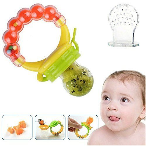 Baby Food Feeder Pacifier With Clip Strap Infant Kids And Toddlers Teething Toys