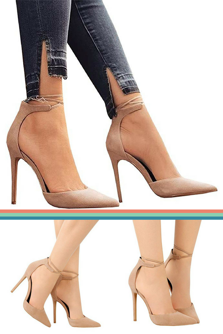 f98bbe8cec24 Pointed toe high heels. These sexy stiletto pumps feature pointed ...