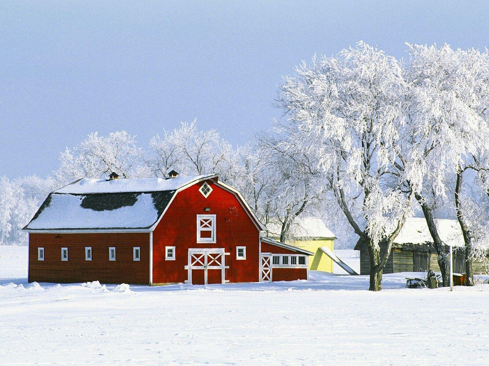Canadian Winter On The Farm Winter Wallpaper Desktop Winter Wallpaper Hd Landscape