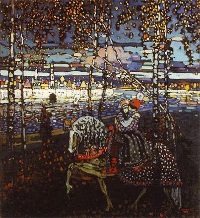 Kandinskij, Coppia a cavallo, 1906