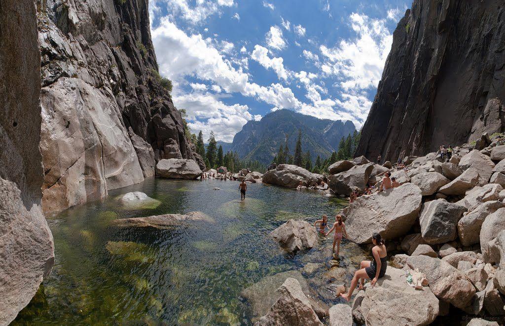 Lower Yosemite Falls Pools On A Beautiful Summer Day