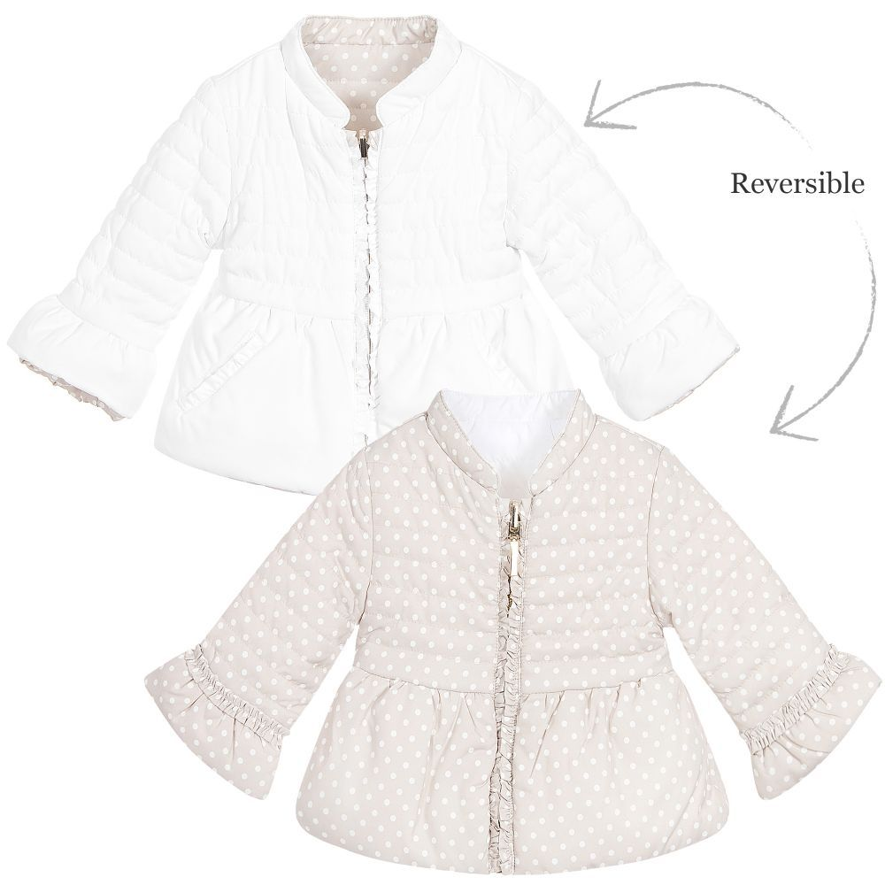 1ca590a2e Mayoral Baby Girls Beige Reversible Padded Jacket at Childrensalon ...