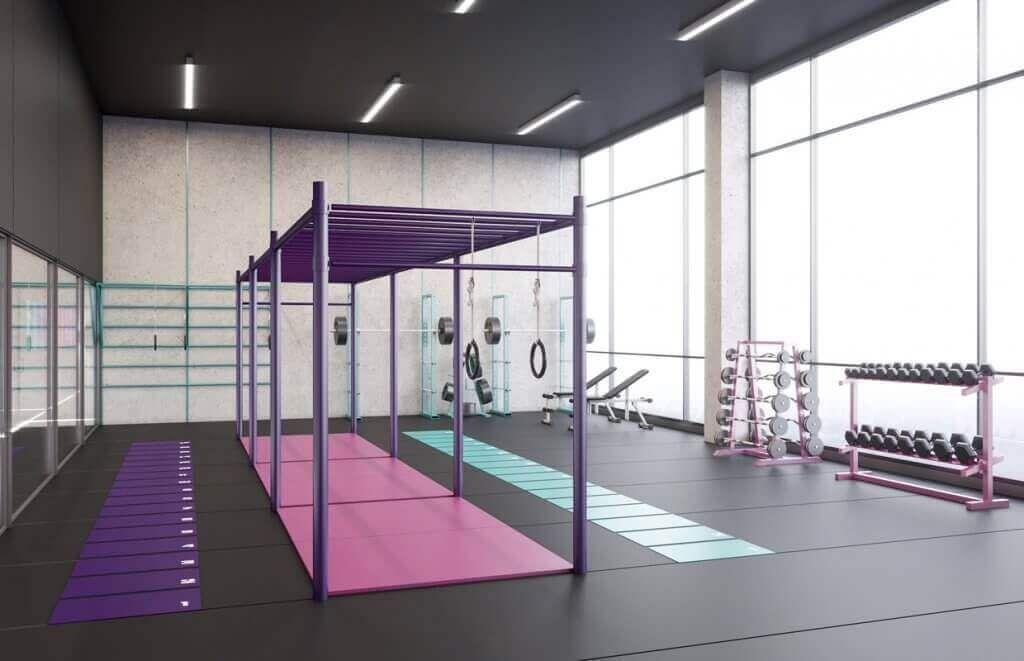 Ladies' Fitness Center Interior Design - Riyadh, Saudi Arabia - CAS  #Arabia #CAS #Center #Design #F...