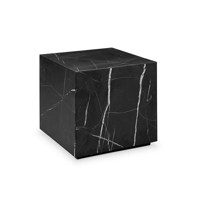Nero Marquina Black Marble Block Table Square Marble