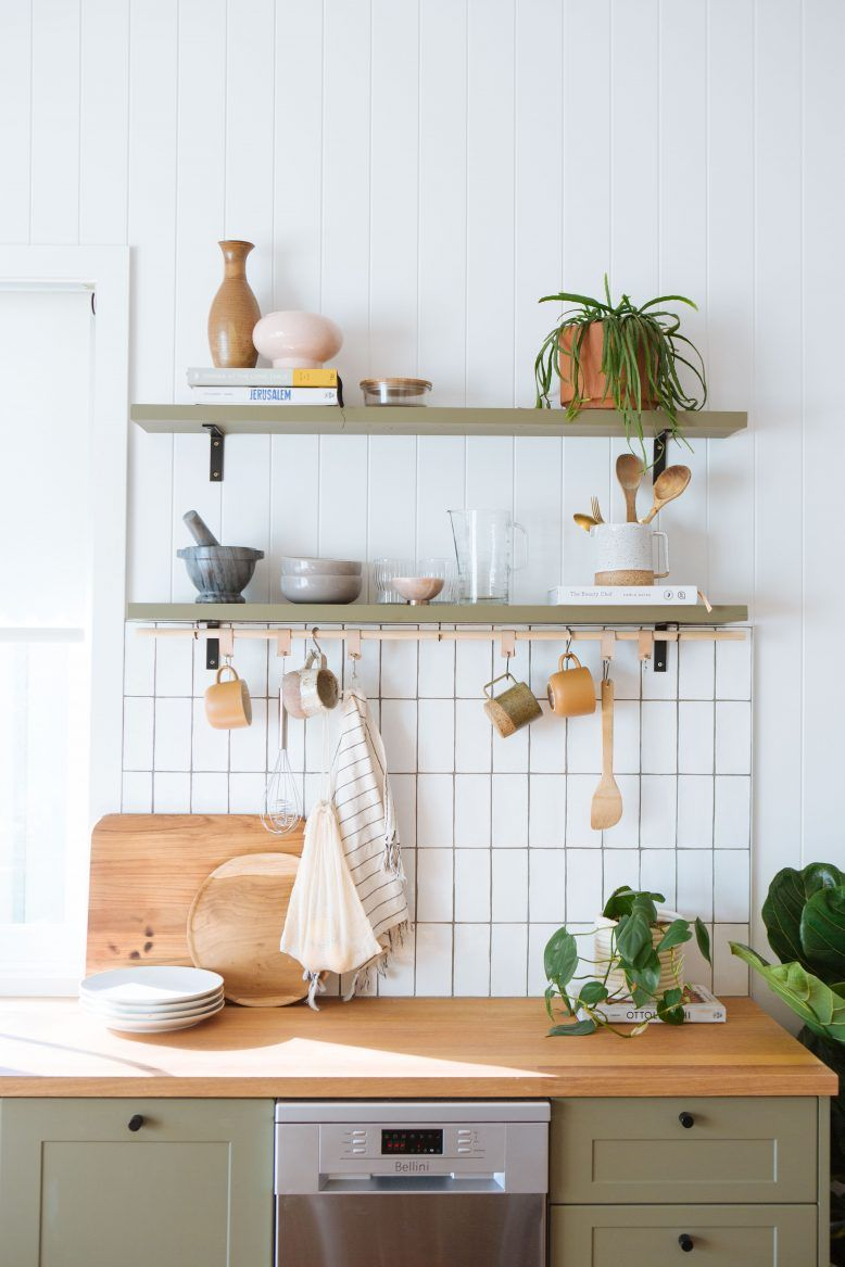 Perfect Your Kitchen Storage With This Diy Hanging Rack In 2020 Hanging Racks Small Kitchen Accessories Kitchen Storage