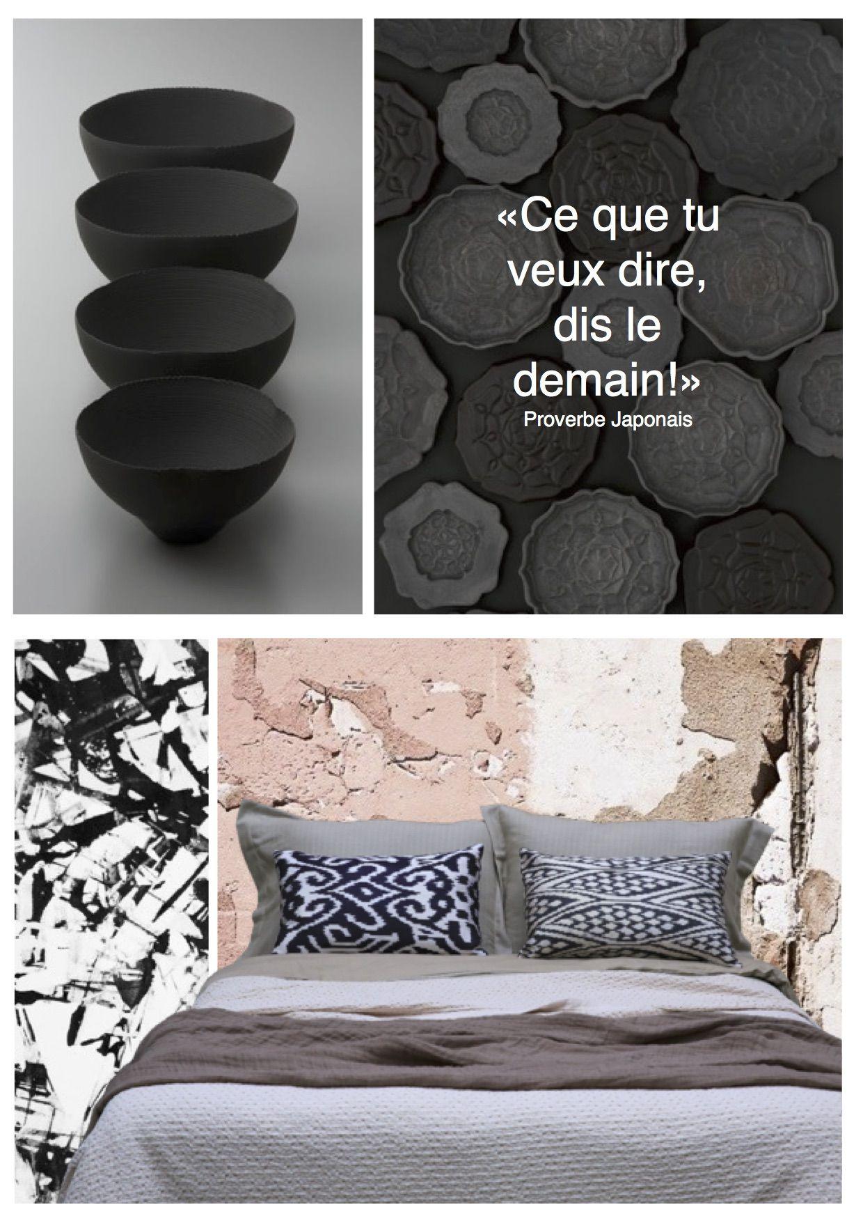coussin linge de lit INSPIRATION JAPONAISE Coussins en Ikat de soie, modèles  coussin linge de lit