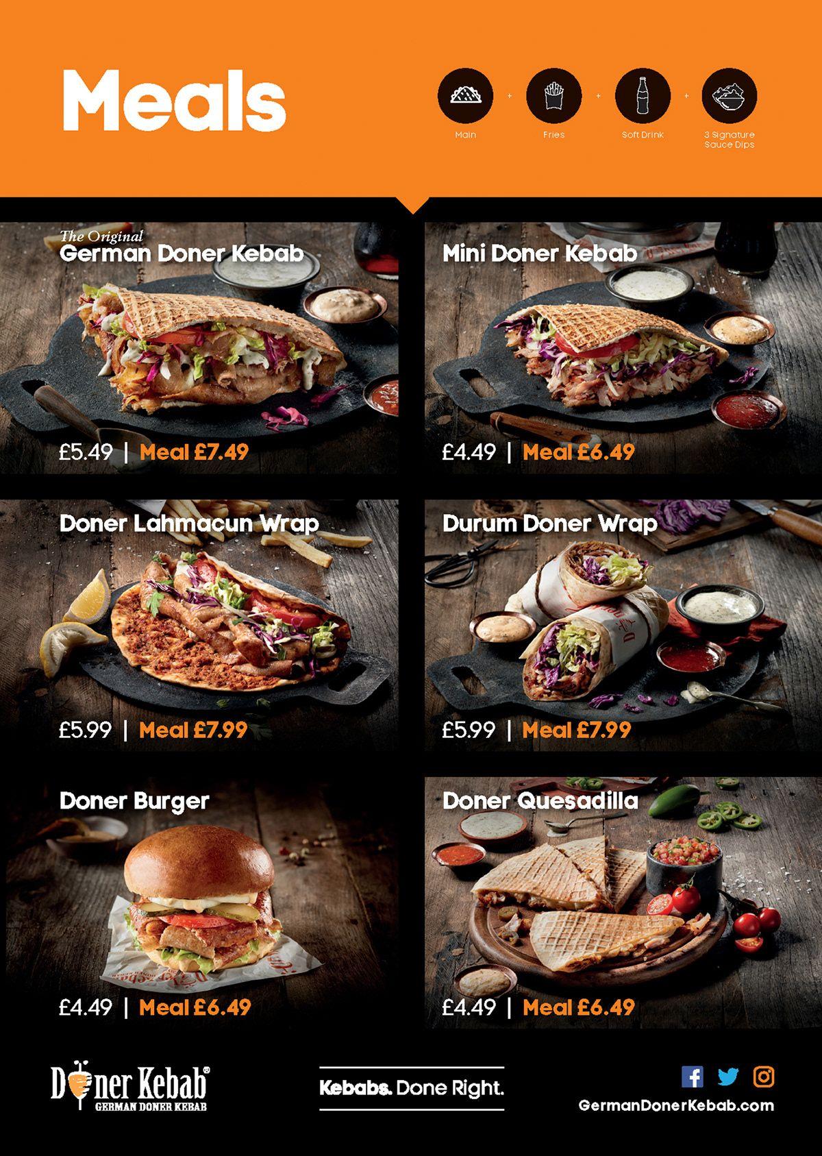 German Doner Kebab On Behance Kebab Doner Kebab Food Menu Design