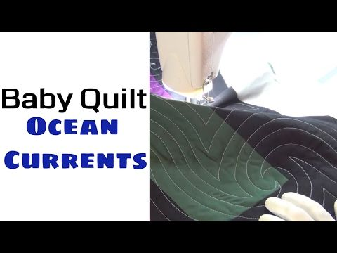 83) Machine Quilting a Baby Quilt with Ocean Currents - Machine ... : youtube quilting for beginners - Adamdwight.com