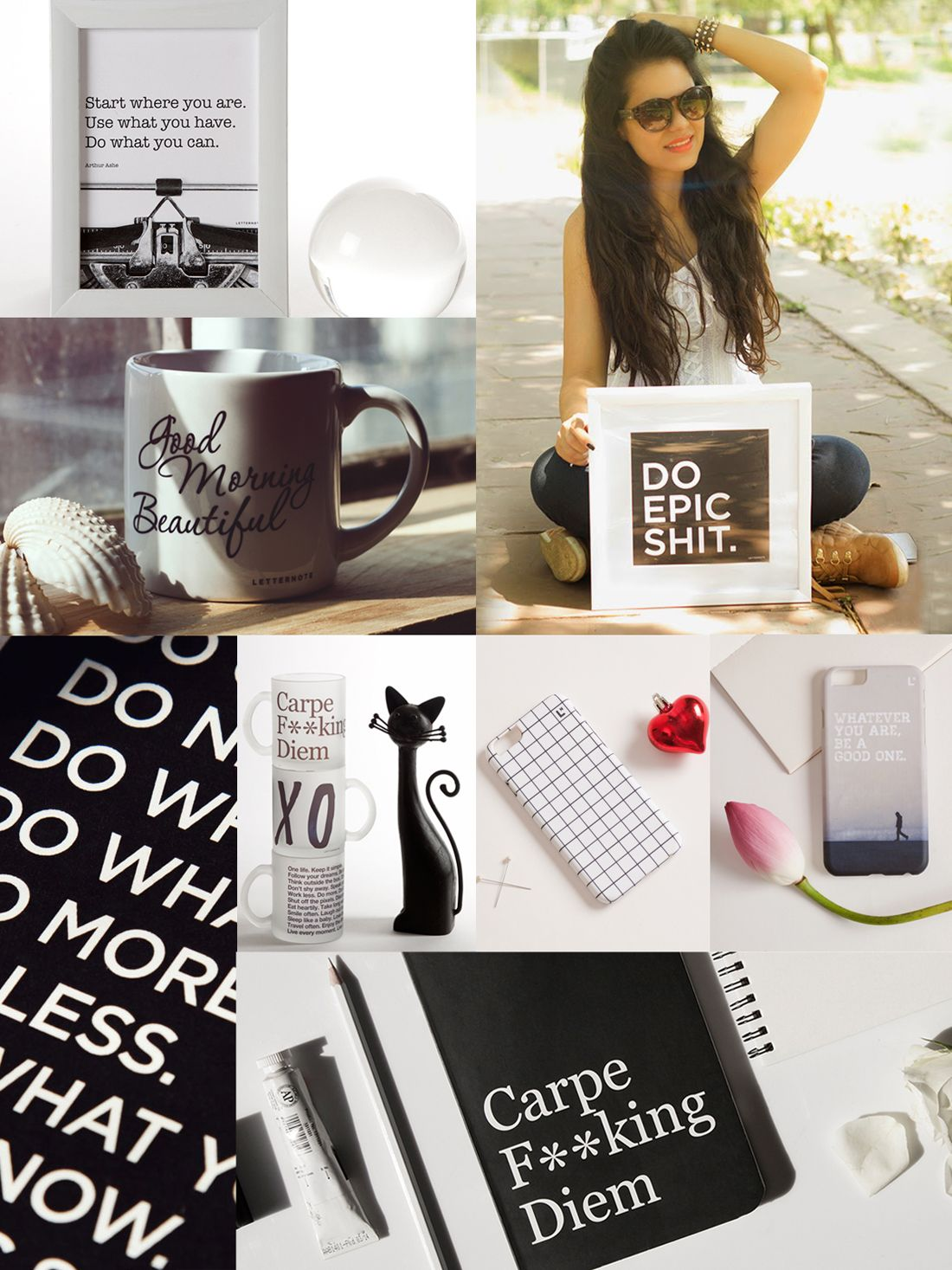 Welcome to our first Moodboard Tuesday 1 - In Black & White. #LetterNote #mug #chic #forher #giftsforher #girl #girlstuff #crazygirl #fashion #style #trend #swag #diva #gogirl #lifestyle Check this out - http://blog.letternote.com/moodboard-tuesdays-1-in-black-white