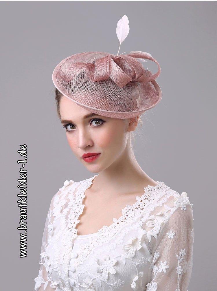 5956b49778b Vintage Brauthut in Lachs  accessoires  für  die  braut  hochzeit  mode