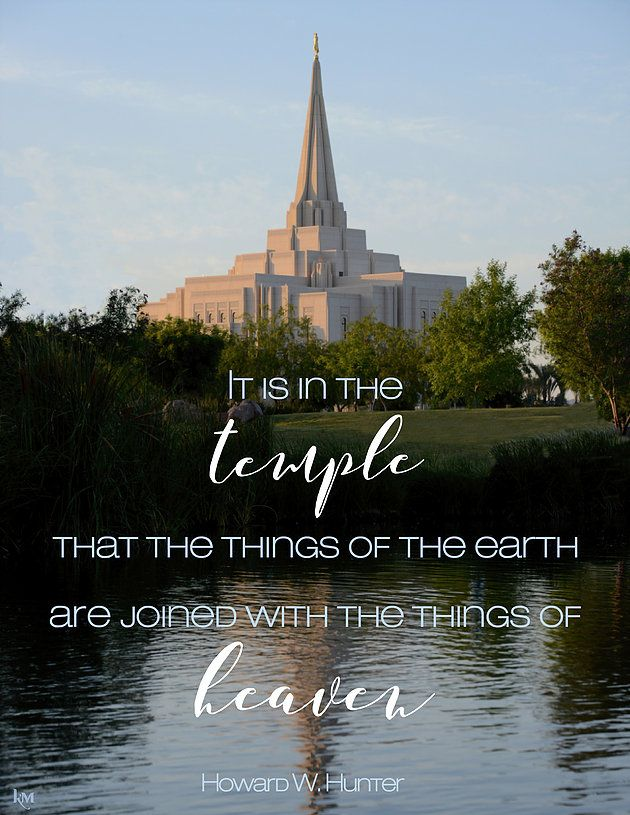 Lds Quotes Temple: Howard W. Hunter Quote (from Lesson 14) #lds #quotes