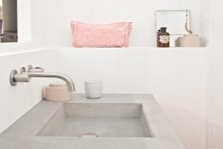 #bathroom #inspiration #interiordesign #zink #concrete #altomindretning #modern #Scandinavian