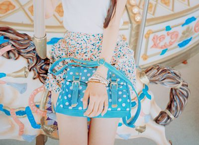 Blue bag! Love it!  (found on because you come crawling)
