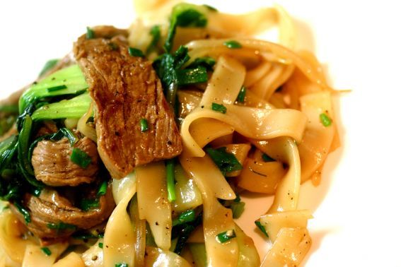 Pork Kway Teow with Chilli & Lime