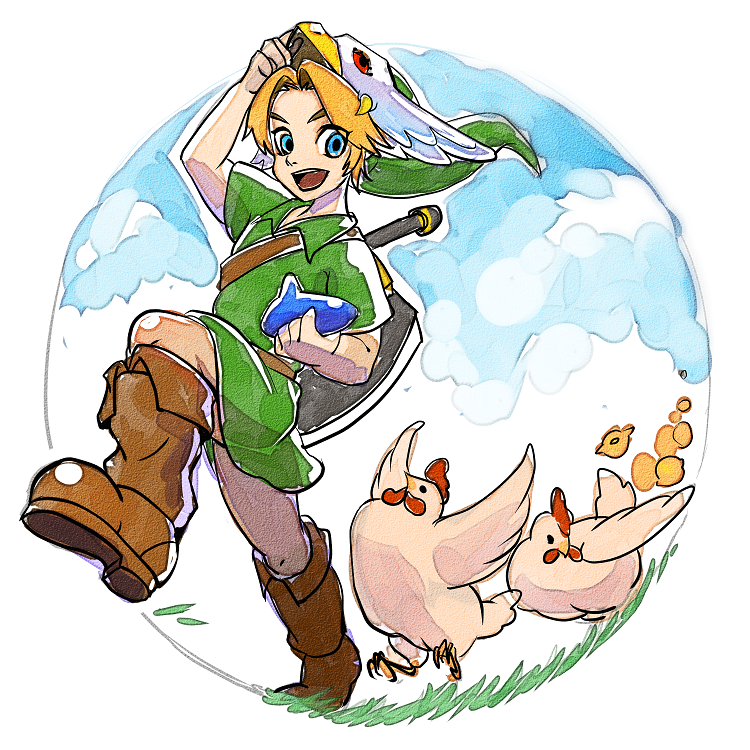 The Legend of Zelda: Majora's Mask / Young Link, Cuccos, and Cucco Chicks / 「ゼルダの伝説まとめ」/「梟」の漫画 [pixiv] [13]