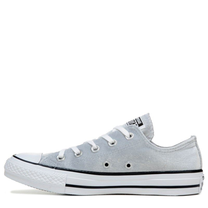 5ac47ae70cda Converse Women s Chuck Taylor All Star Velvet Low Top Sneakers (Greywhite)