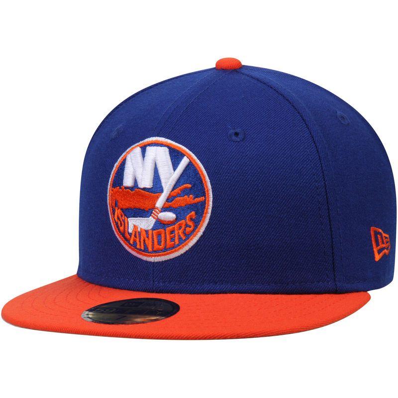 New York Islanders New Era 2 Tone 59fifty Fitted Hat Royal Orange New York Islanders Fitted Hats New Era