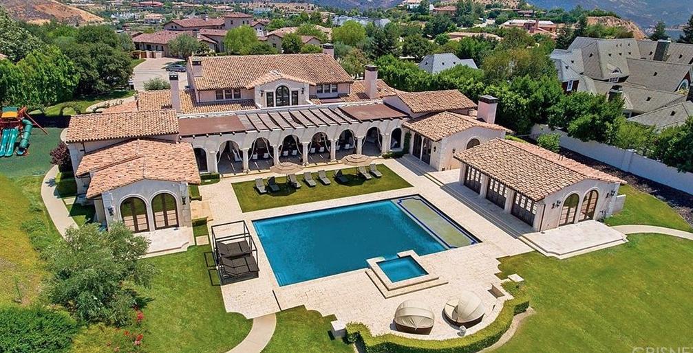 This Mediterranean style mansion is located at Prado De La