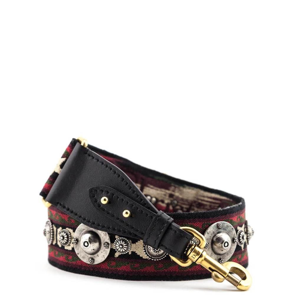Dior Red Black Bohemian Shoulder Strap Dior Saddle Bag Dior