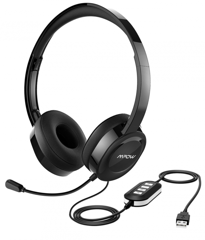 New Mpow 158 Usb Headset 3 5mm Computer Headset Soft Memory Protein