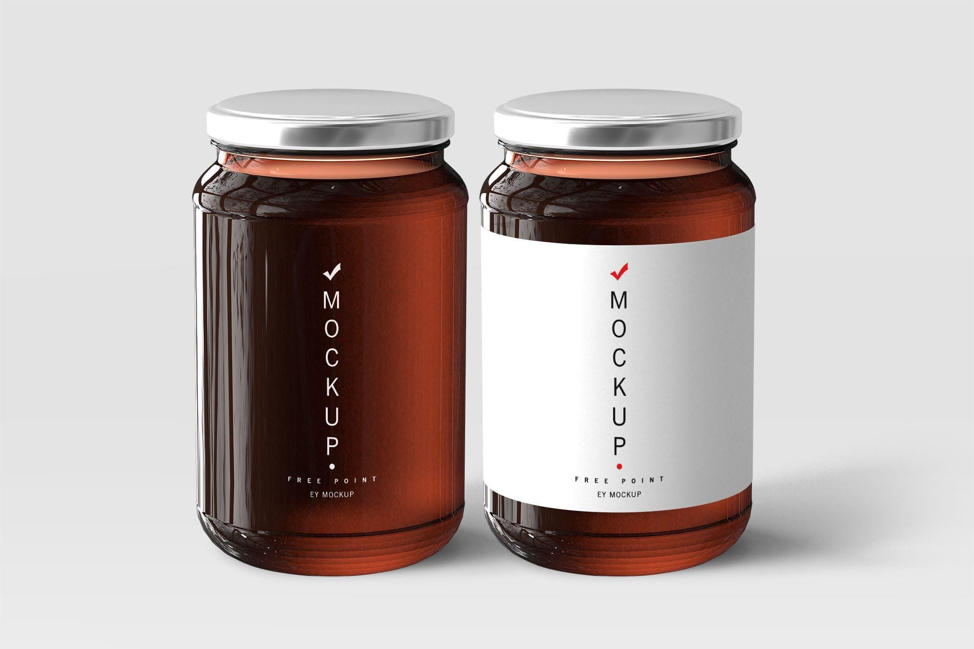 Free Honey Jar Mockups | Mockup, Free mockup templates