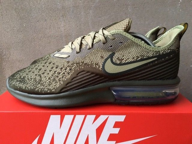Nike Air Max Sequent 4 Size 9 UK Cargo EU 44 Mens Trainers AO4485-300 NEW  BOXED  Nike  RunningShoes 1d61ea030