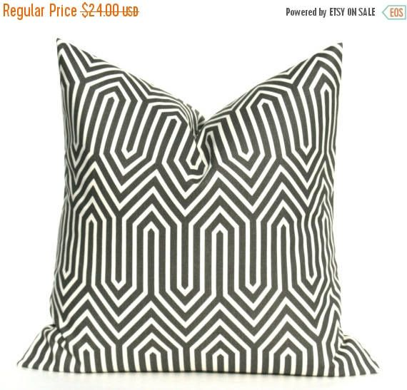Gray Pillow Euro Sham 24x24 Euro