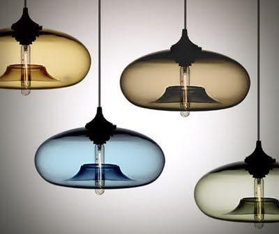 hand blown glass lights Design Pinterest
