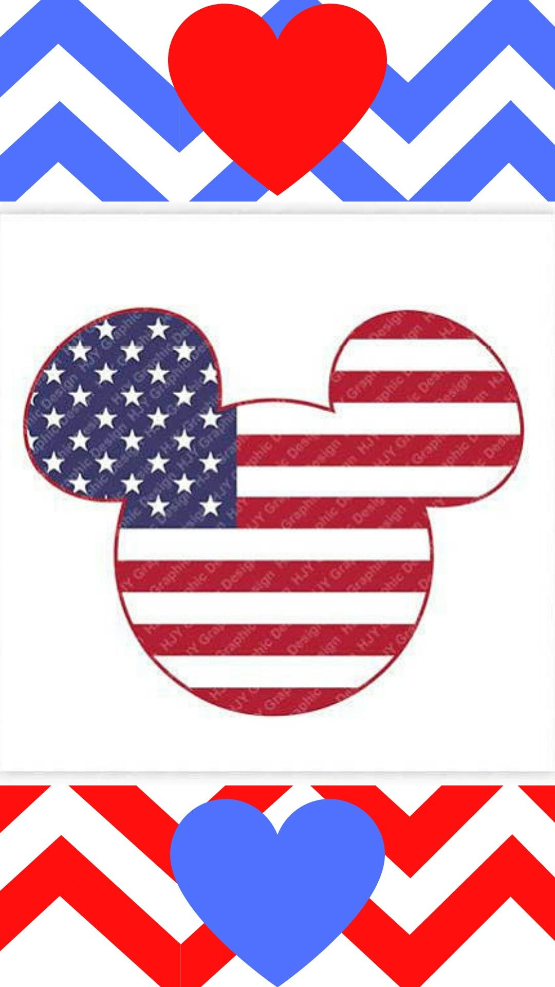 Disney Forth of July USA Flag Mickey Minnie Mouse