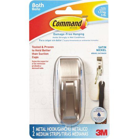 d87516c6081 Command Modern Reflections Medium Hook with Water-Resistant Strips ...