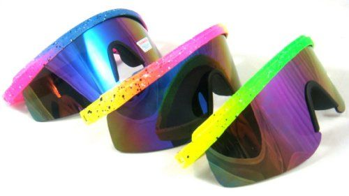 4a0f0732ec8 80 s Vintage Neon Splattered Wrap Sunglasses  7.99 i actually really want  these