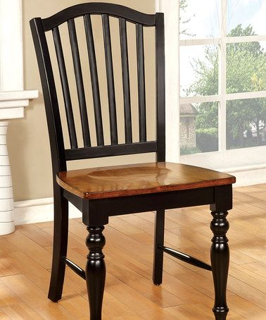 Look what I found on zulily Black & Antique Oak Delphine Dining