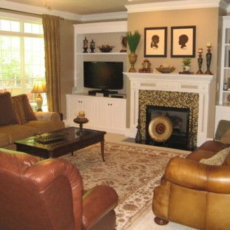 decorating ideas family room with fireplace | room decorating