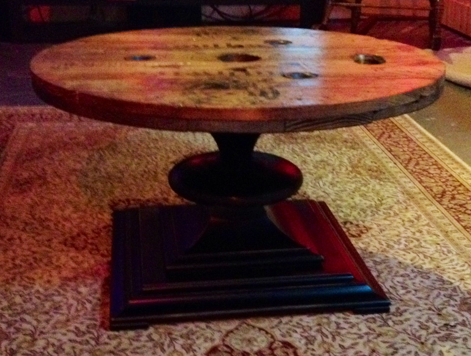 wire spool coffee table stuff i ve made pinterest wire