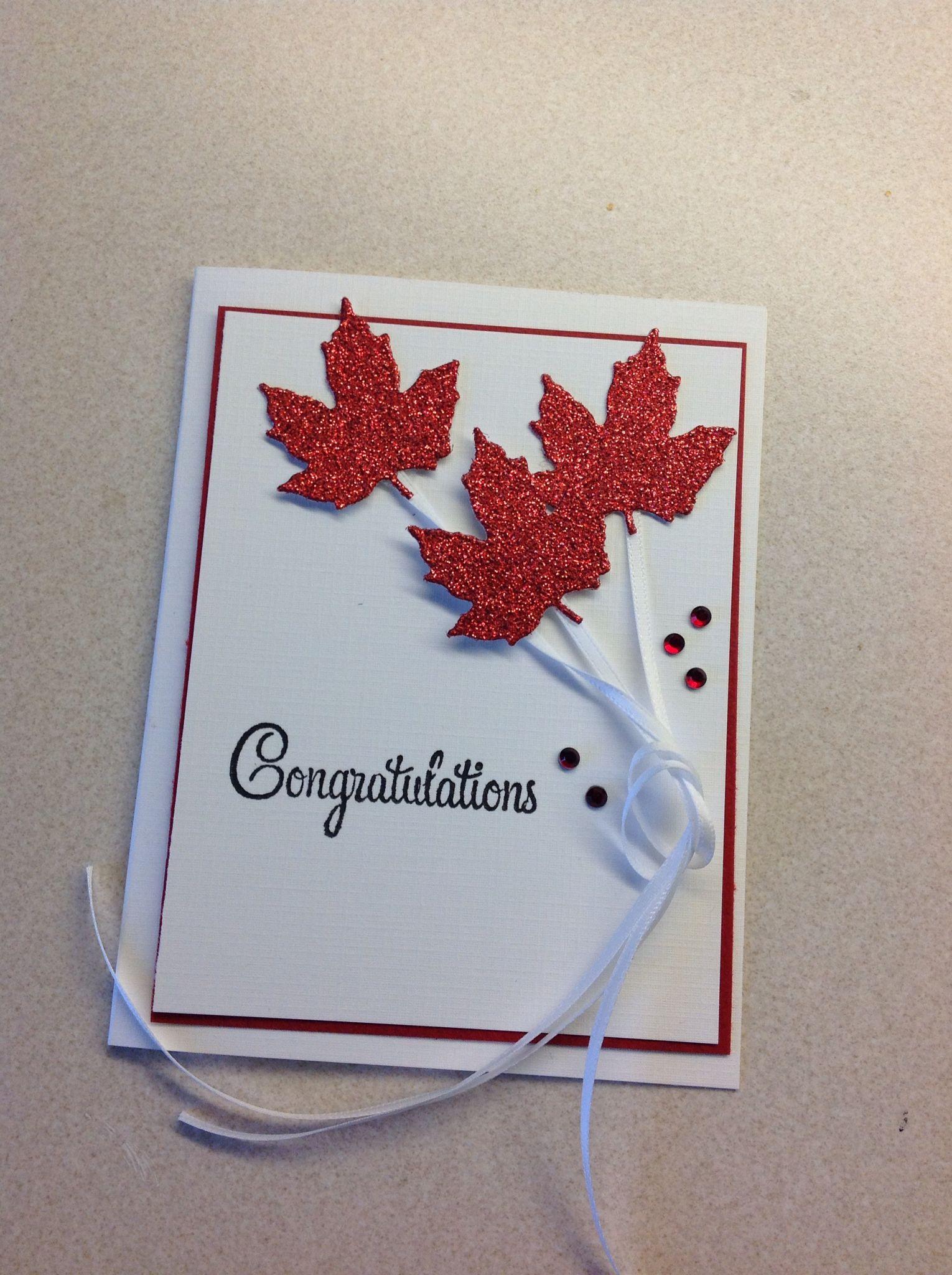 Congratulations On Becoming A Canadian Citizen Card Congratulations Card Congratulations Greetings Cards Handmade