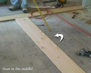 How to install an inexpensive wood floor do it yourself solid diy cheap make your own solid wood floors for a fraction of the cost grandmashousdiy solutioingenieria Gallery