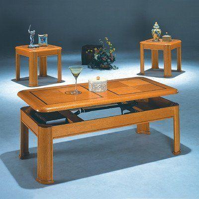Best 3 Piece Coffee Table Set Finish Rich Oak By World Imports 640 x 480