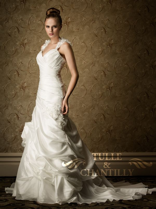 Calla Lily Sweetheart Mermaid Wedding Dress With Fl Straps Tbqw008