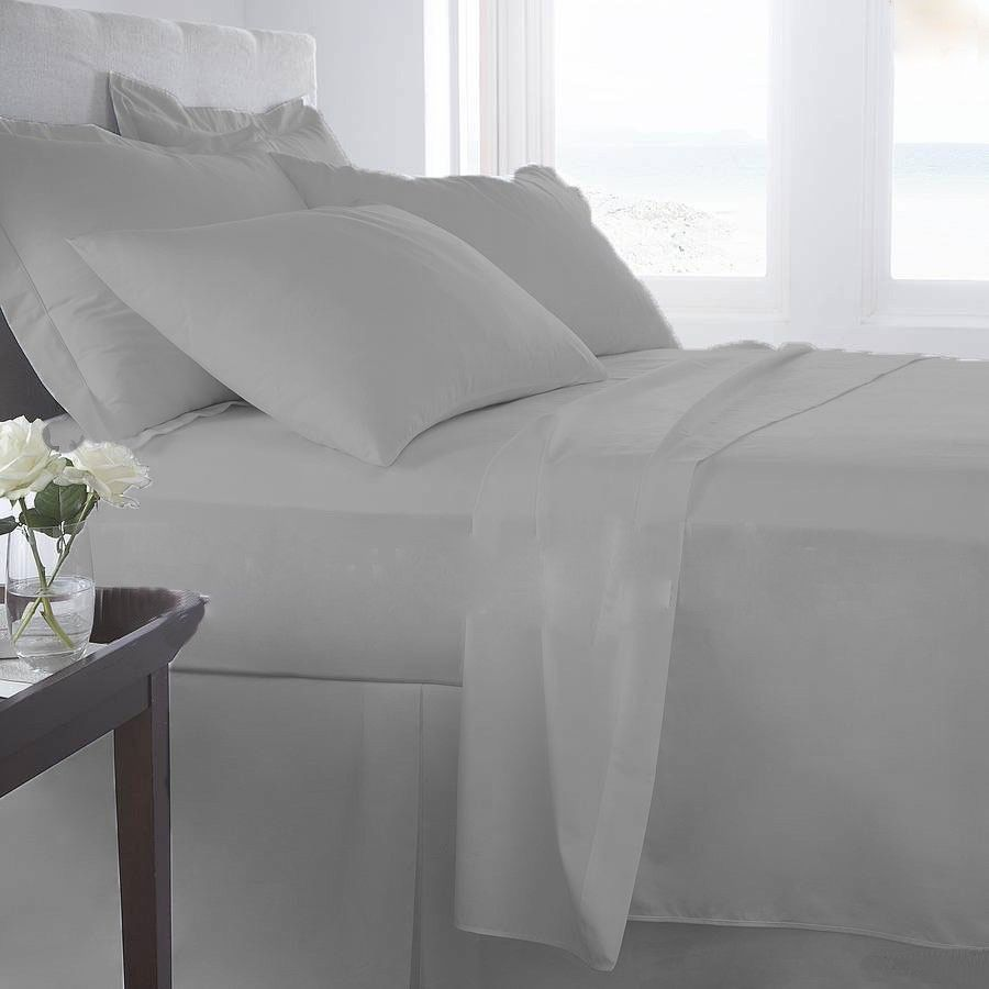 1000tc 100 eyptian cotton us bedding collection silver grey all us