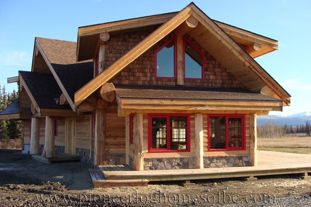 View Our Gallery Of Log Post And Beam Homes   A Great Alternative To A Full  Log Home.