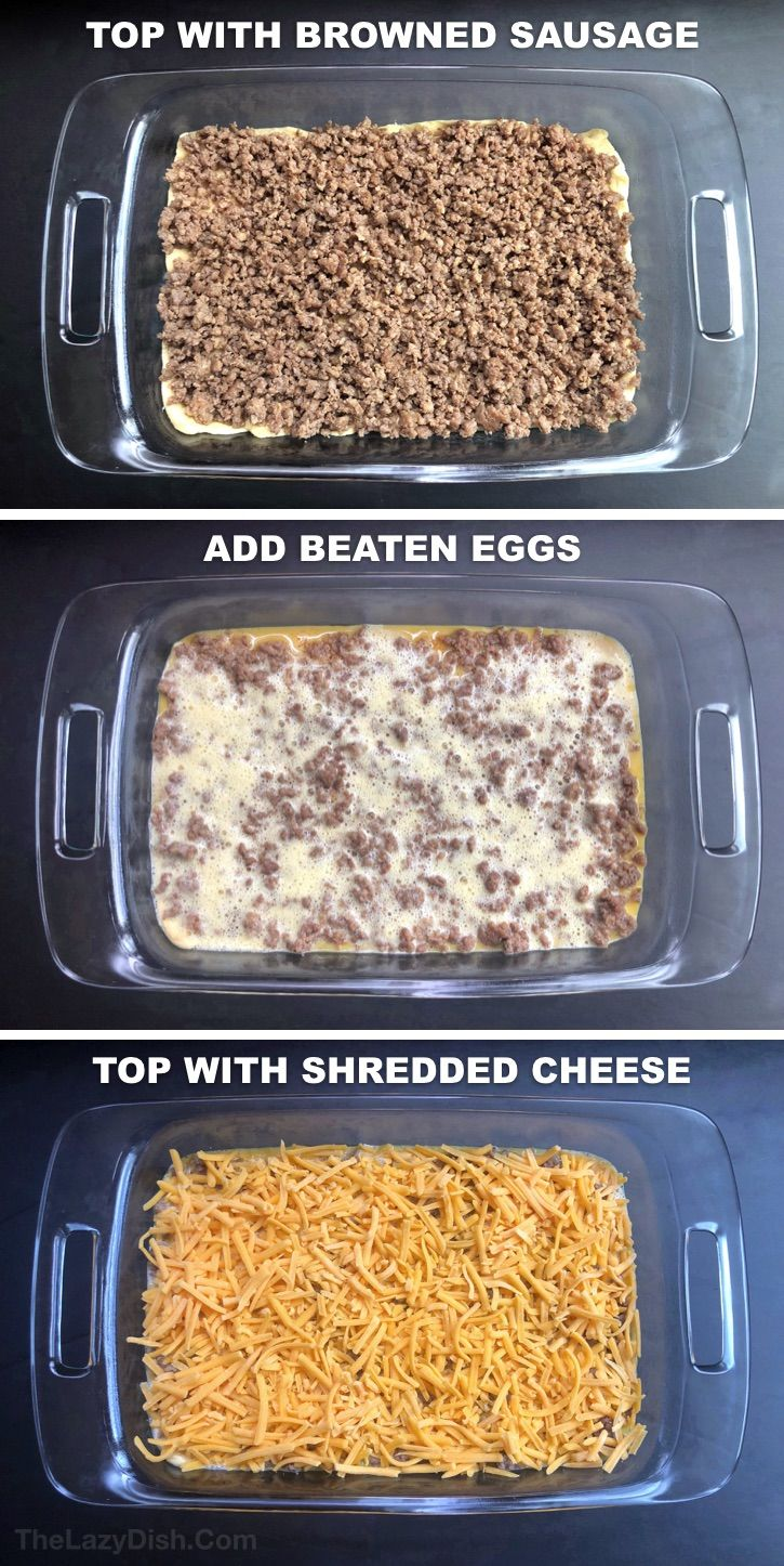 Photo of The BEST 4 Ingredient Sausage Breakfast Casserole – The Lazy Dish