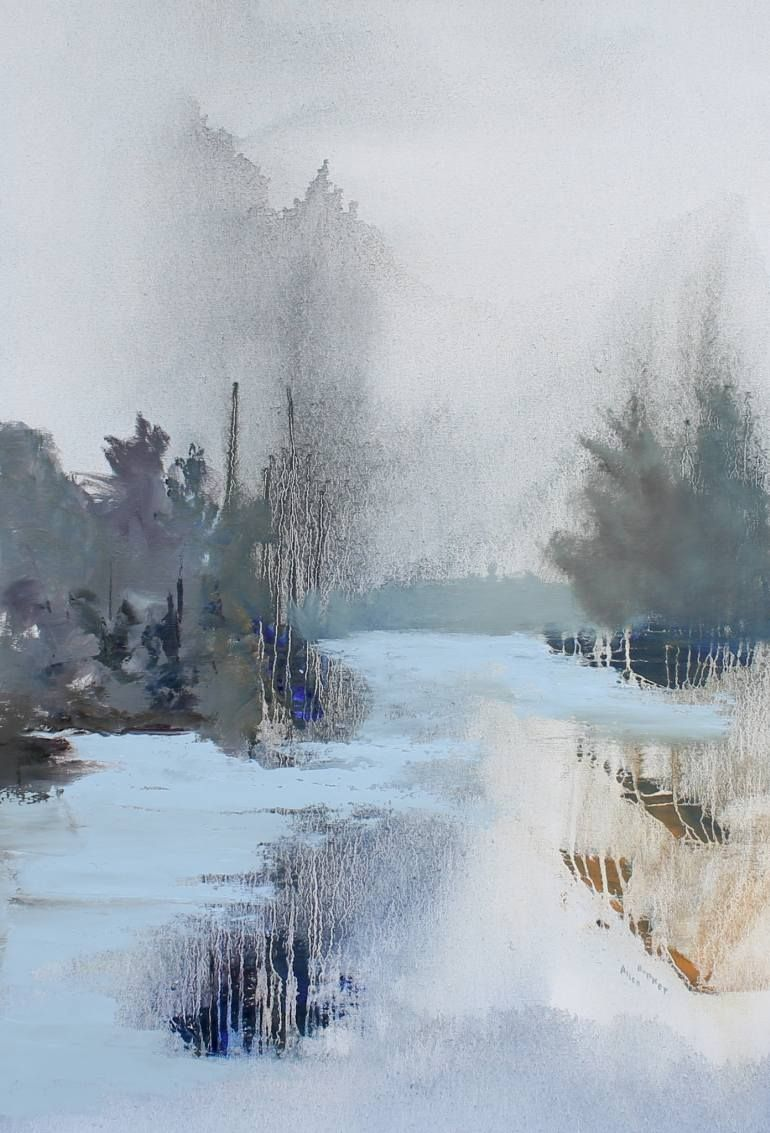 Every Now And Then Painting Winter Scene Paintings Watercolor