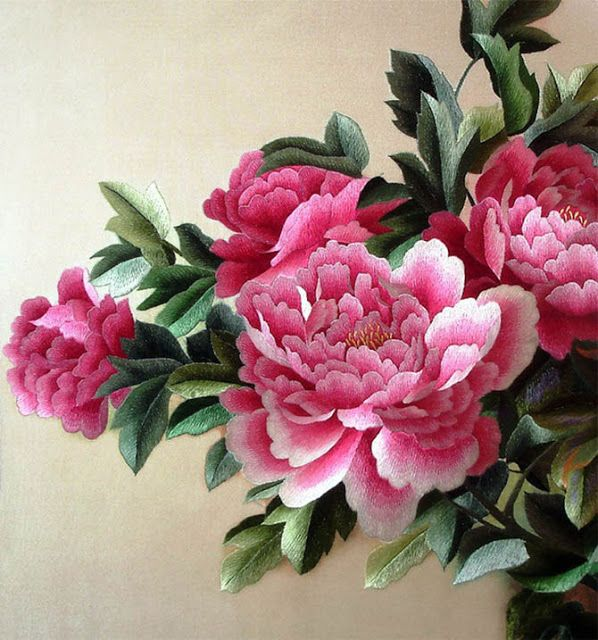 Pink peonies chinese silk embroidery pinterest peony pink peonies chinese silk embroidery mightylinksfo