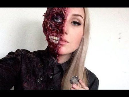 Halloween Costumes Zipper Face