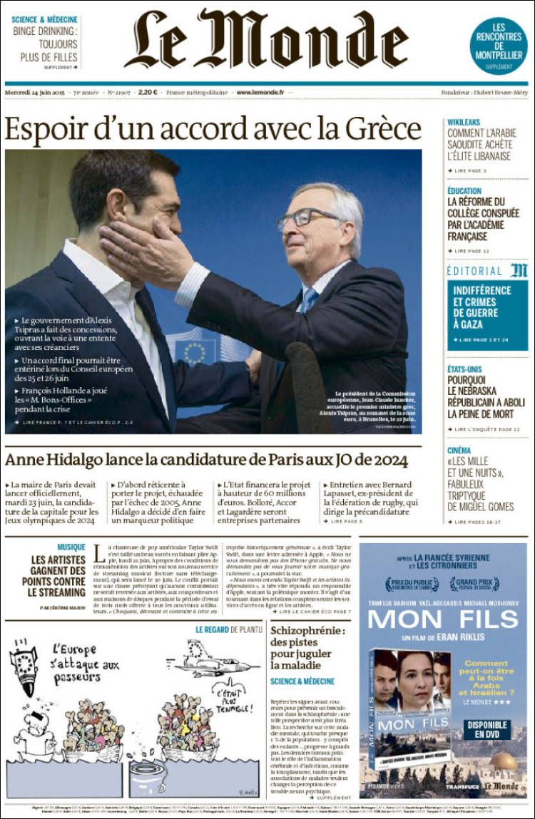 Le Monde 21907 - mercredi 24 juin 2015