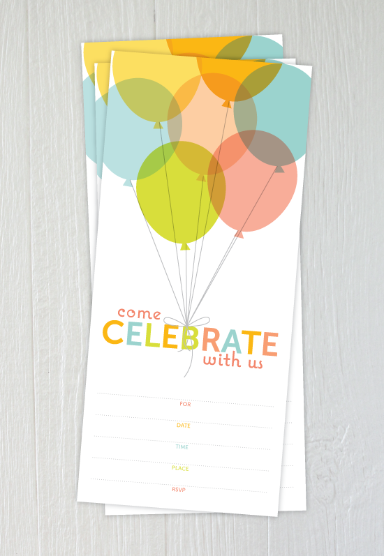 free printable pastel balloons party invitation e Charming