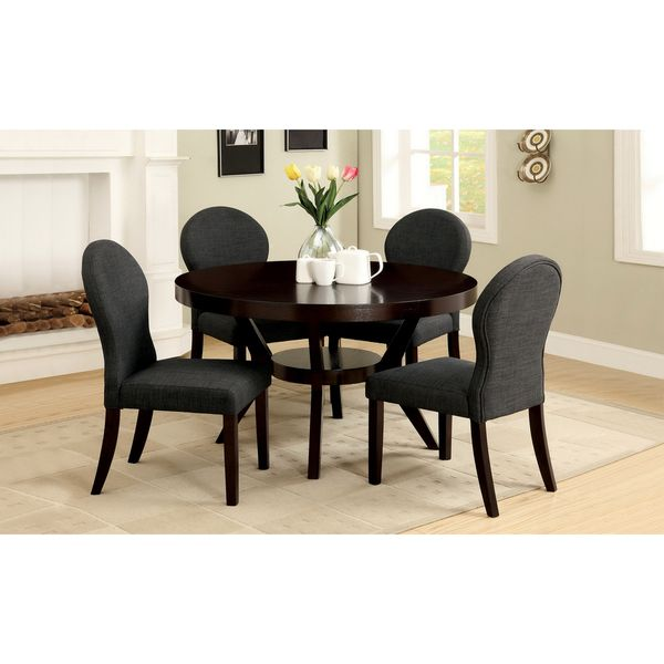 Furniture of America Pyrennes Espresso Dining Table Overstock